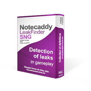 Notecaddy SNG LeakFinder